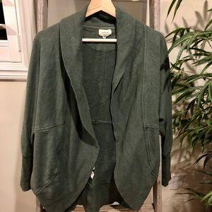 Aritzia Wilfred Diderot green cardigan sweater